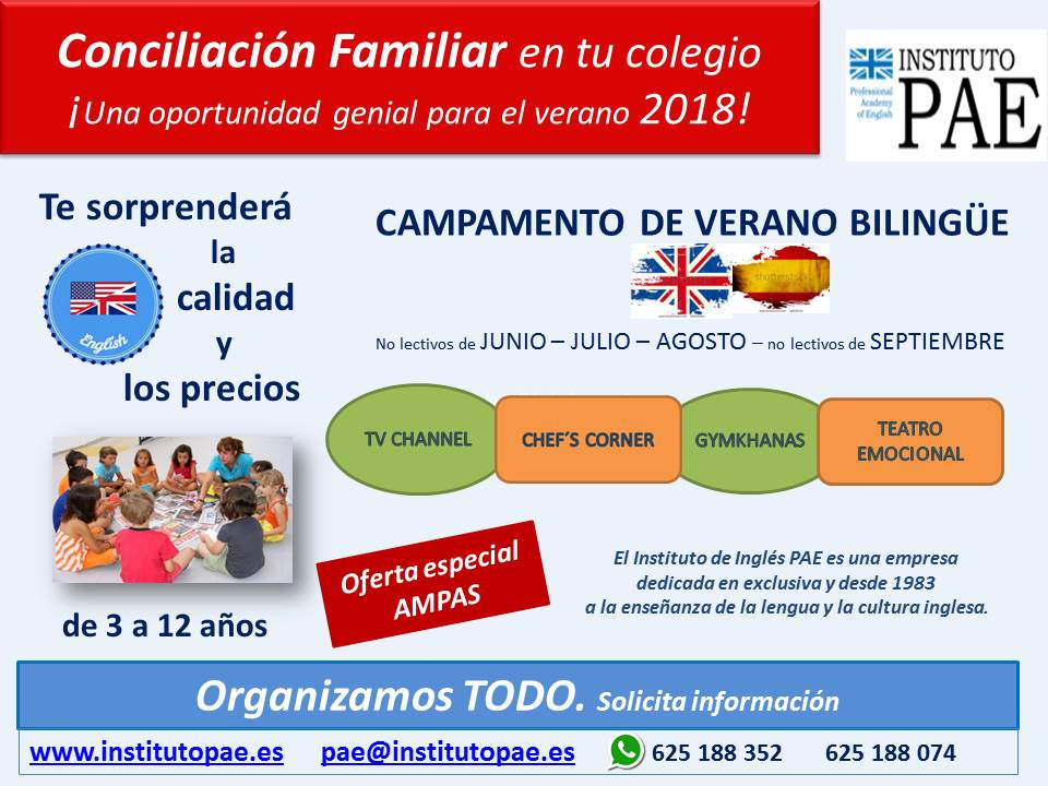 Campamento verano Bilingue Instituto PAE